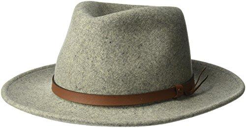 Pantropic Men's Outback Lite Felt Feora Hat, Heather, (Lite Felt Outback Hat)