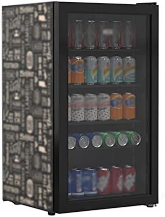 SHENXINCI Vinotecas con Puerta de Vidrio Refrigerado Simple,88L Rock Estilo Refrigerador Pequeño,Vidrio Templado de Tres Capas + Película Low-E,con Luces LED Y Partición Móvil De Cuatro Capas(0~10 ℃)