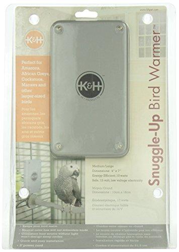 "K&H Pet Products Snuggle Up Bird Warmer Medium/Large Gray 4"" x 7"" 10W"
