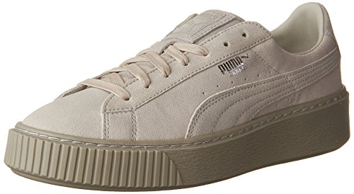 PUMA Women's Basket Platform Reset Fashion Sneaker - Gray Violet (Large Image)