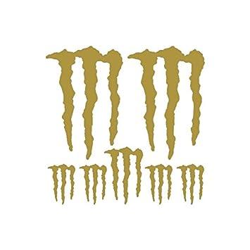 Aufkleber Set Sticker Monster Energy Ref Spon 024 Gold