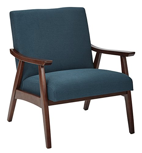 Work Smart/Ave Six DVS51-K14-osp Davis Chair, Kline Azure - Office Star Work Smart Wood