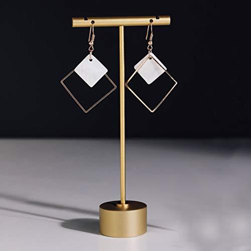Exhibidores de joyeria en metal Dorados altura 11cm (2un)