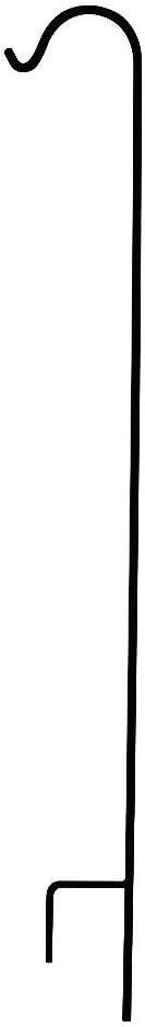 FEED GARDEN Shepherd Hook 92 Inch,1/2 Inch Diameter Thick,Non-Hollow Super Strong Rust Resistant Premium Metal Hook for Bird Feeders,Hanging Plant Baskets,Weddings,Lanterns,Black,1 Pack
