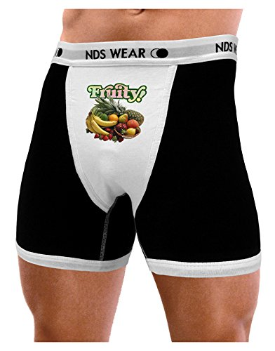 TooLoud Fruity Fruit Basket Mens NDS Wear Boxer Brief Underwear - Small