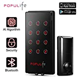 PopuLife V4 Smart Keyless Entry Deadbolt IP 65 Waterproof Electronic Door Locks, Work with eKeys, PIN Code, Alexa and Google Assistant, Perfect for Home/Business/Property/Hotel, Black