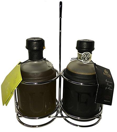 Acetum Mutina Set of Extra Virgin Olive Oil and 4 Leaf Balsamic Vinegar of Modena PGI 8.45 FL. oz Each