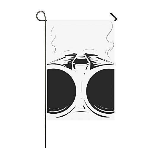 WIEDLKL Home Decorative Outdoor Double Sided Shotgun Smoke Barrel Isolated Garden Flag House Yard Flag Garden Yard Decorations Seasonal Welcome Outdoor Flag 12x18in Spring Summer Gift
