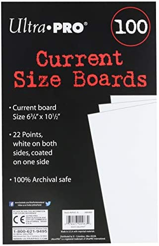 Current Size Comic Backing Boards Ultimate Guard 100 Stück