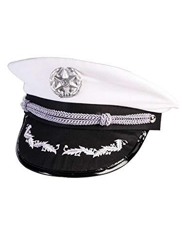 Forum Novelties Military Officer White Peaked Hat ()