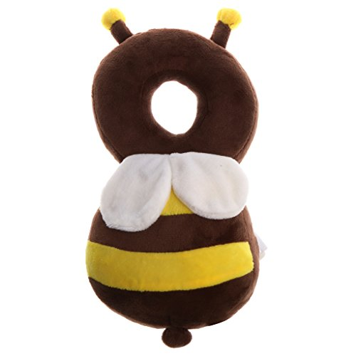 Dovewill Baby Infant Walking Head Back Protection Protector Safety Pad Harness Headgear - Bee, as described from Dovewill
