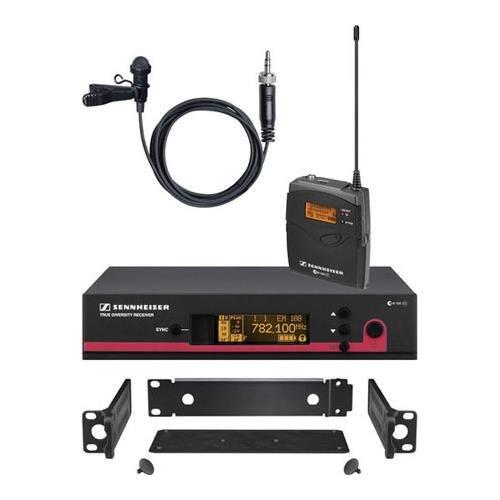 Sennheiser ew 112 G3 Wireless Bodypack Microphone System, EM 100 G3 Receiver, SK 100 G3 Transmitter, ME 2 Lavalier Mic, GA 3 Rack Kit, A 516-558MHz by Sennheiser