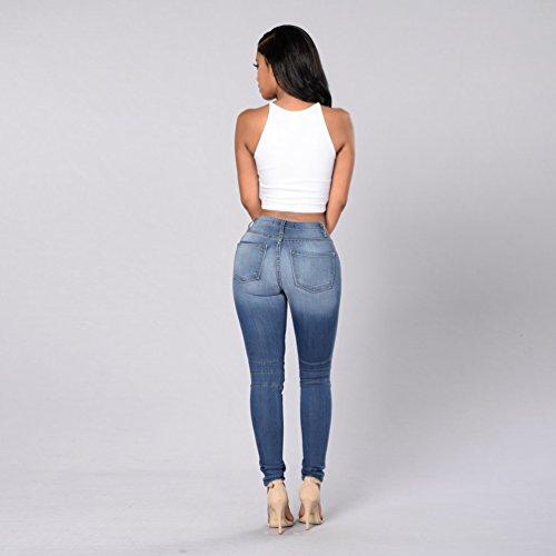lastiques Pantalons Stretch en Stretch Jeans Longue Push Jeans Denim Taille Taille Jeggings Haute Femme Up Casual Femme Haute Jeggings Skinny Pantalon Slim Sw8qxnaxU1