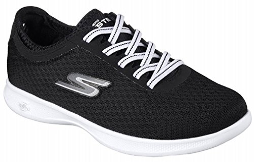 Skechers Womens GO STEP Lite - Dashing, Walking, Black/White, 8.5 W US by Skechers