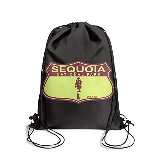 Sequoia National Park Unisex Drawstring Tote Designer Waterproof Sports Sports Backpack