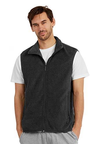 ET TU Men's Zip Up Polar Fleece Vest (3XL, Charcoal)