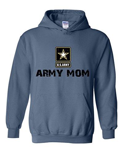 Artix U.S. Army Star Army Mom Army Strong Apparel Unisex Hoodie Sweatshirt Medium Indigo Blue ()