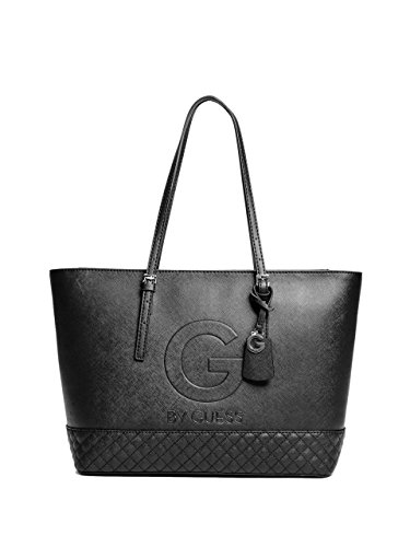 G by GUESS Women's Gilman Quilted Tote - Black D&g Bag