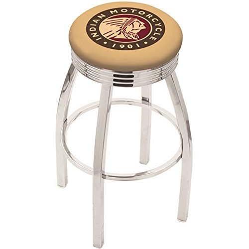 Holland Bar Stool L8C3C Indian Motorcycle Swivel Counter Stool, 25""