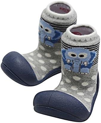 هدایا مخصوص کفش کودک Attipas جوراب لاستیکی اولین واکر نرم پنبه ای ایده آل هدایای رجیستری کودک