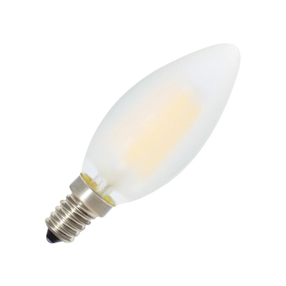 2700K Blanc Chaud et 400LM Ampoules Flamme,Equivalence Incandescence 40W 4W Ampoule LED E14 /à Filament Dimmable Angle de Faisceau 360/°,Lot de 5