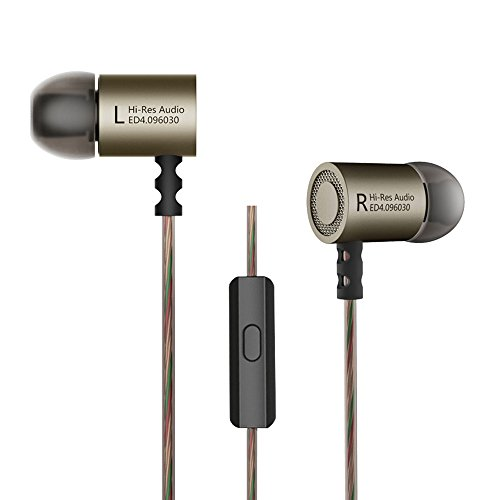OLSUS HiFi Stereo Metal In-ear Wired Earphone - Gray (With Mic) by OLSUS
