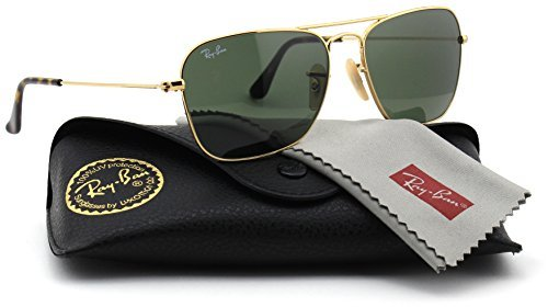Ray-Ban RB3136 181 Unisex Caravan Sunglasses (Havana Gold Frame / Dark Green Lens 181, - Ray Small Ban