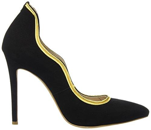 Fersengold Mujer Negro grau de Punta con Berlin Zapatos Schwarz Cerrada Schwarz Tacón para HnxwTrHB8q