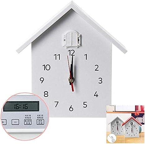 gzb Moderno Reloj de Cuco con la Función de Sincronización, Tiny Moderno Reloj de Cuco, Reloj de Diseño, Naturales O de Aves Voces Cuco de Llamadas, Grabaciones de Campo Natural, Diseño de Reloj