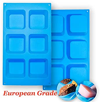 Aokinle 2-Pack of European Grade Silicone Square Molds