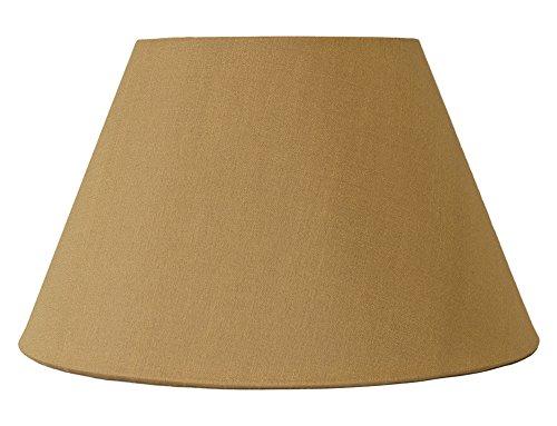 Gold Silk Shade (Urbanest Downbridge Uno-fitter Silk Lamp Shade, 6 1/2-inch by 12-inch by 7 1/2-inch, Gold)