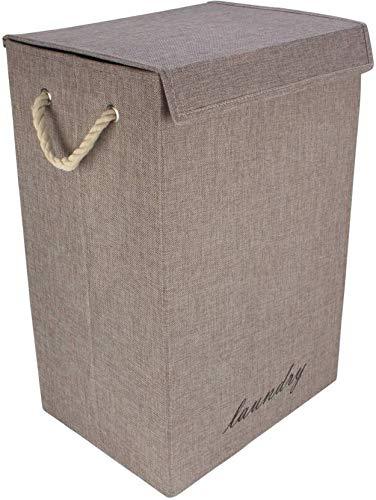 Haneez Fabric Laundry Bag,Cloth Storage Basket (59 cm X 30 cm X 20 cm) Laundry Organization at amazon