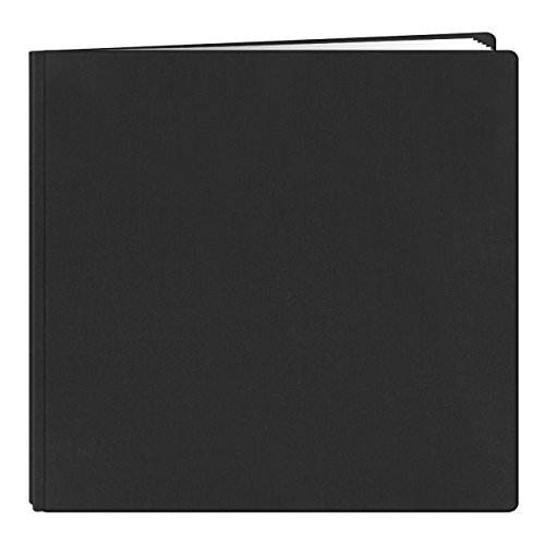 Fabric Padded Photo Albums (Pioneer 12-Inch by 12-Inch Family Treasures Deluxe Fabric Postbound Album, Black)