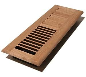Decor grates wl412 u 4 inch by 12 inch wood for Wood floor registers 6 x 14