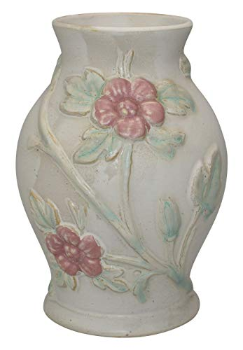 (Hull Pottery Early Art Crab Apple White Vase)