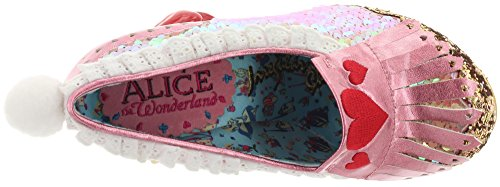 Irregular Choice White Rabbit Damen Pumps Pink