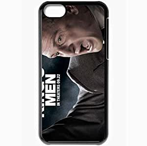Personalized iPhone 5C Cell phone Case/Cover Skin All the Kings Men Sean Penn Willie Stark face Movies Black
