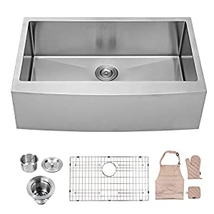 41iGpuHzUxL._SS300_ 75+ Beautiful Stainless Steel Farmhouse Sinks For 2020