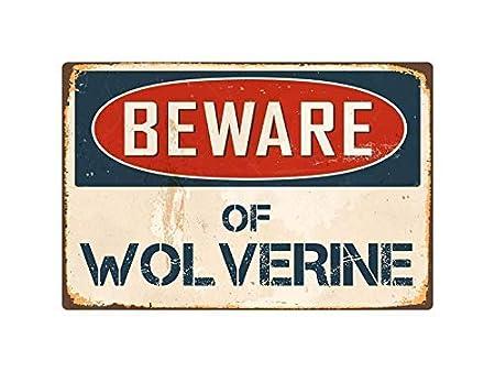 WSMBDXHJ Beware Wolverine - Cartel de Metal para Mujer y ...