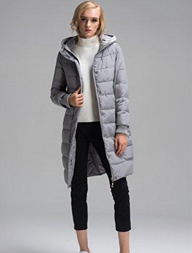Vogstyle - Abrigo largo con capucha de mujer, niña, talla S-XL Stile-1 Grigio