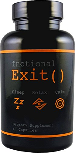 Fnctional Exit() Melatonin Supplement for Sleep, Relaxation, and Calming (60 Count)