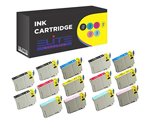 14 Pack Aria Supllies T078 78 Ink Cartridge Replacement for use in Artisan 50 Stylus Photo R260 R280 R380 RX580 RX595 RX680 Printers