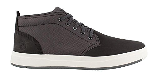 Timberland Davis Square Canvas/Leather Chukka Men's Boot 8 D(M) US Dark (Timberland Men Footwear Ankle Boots)