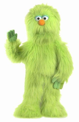 30'' Green Monster Puppet, Full Body Ventriloquist Style Puppet