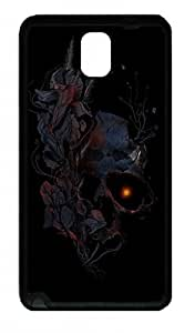 Fit Case with Abstract Painting Deathblooms Printed Plastic and TPU Back Case Cover for Samsung Galaxy Note 3 n900