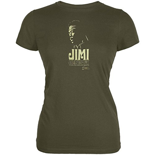 Jimi Hendrix Stone Free T-shirt - Jimi Hendrix - Womens Stone Free Juniors T-shirt Large Dark Green
