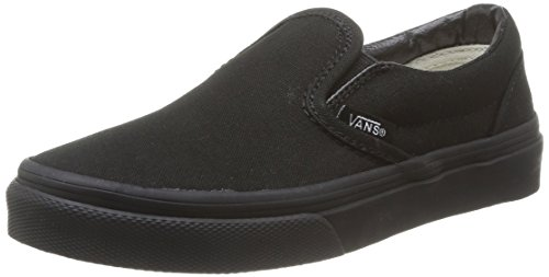 Vans Kids Classic Slip-On (Little Big Kid), Black, 1 M