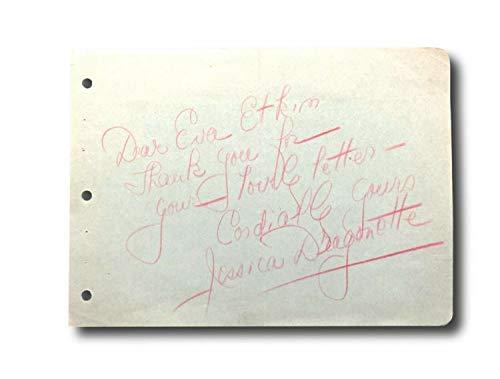 Jessica Dragonette Hand Autographed Signed Memorabilia Album Page Cut JSA Coa Autograph Gullivers Travel