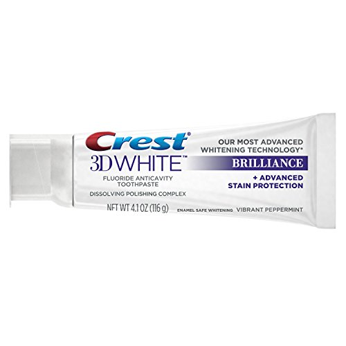 Crest Toothpaste 3d White Brilliance Vibrant Peppermint 41oz Pack Of 3