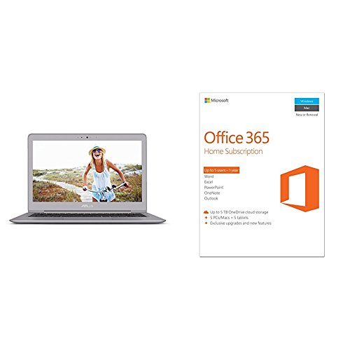 Price comparison product image ASUS ZenBook UX330UA-AH54 13.3-inch Ultra-Slim Laptop + Microsoft Office 365 Home | 1-year subscription, 5 users, PC/Mac Key Card bundle